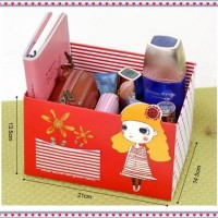 STATIONARY BOX GIRL / pencil box / organizer box / DIY