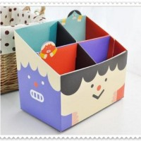 STATIONARY BOX JAPAN DOLL / pencil box / organizer box / DIY