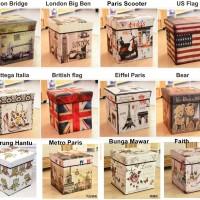 Box Simpan / Storage Box / Storage Stool / Tempat Mainan / Majalah
