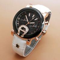 Jam Tangan AIGNER BARI Leather AGT Gold-White