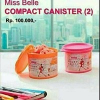 Tupperware Miss Belle Canister, Toples Snack Cantik (2 pcs)