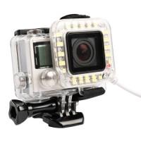 USB LED Light Lens Ring Lampu Flash GoPro Hero 4/3+ Frame