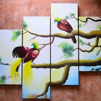 harga Lukisan Minimalis Burung P4-18 Tokopedia.com