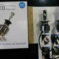 LAMPU MOBIL H4 LED GARANSI 12 BULAN WATT 20/40