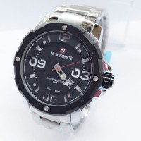 Jam Tangan Naviforce 9078 Silver Original