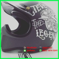 harga Helm Cakil Hbc Steve The Legend Grey/abu Tokopedia.com