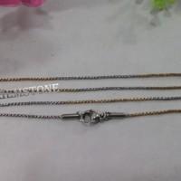rantai kalung titanium halus kombinasi 2 warna, kalung titanium asli
