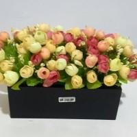 Bunga plastik/bunga artificial rose kelereng 01