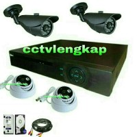 harga PAKET CCTV MURAH 4CH AHD 2MP+HARRDISK Tokopedia.com