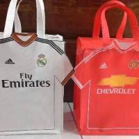 Jual tas souvenir ulang tahun/ultah anak jersey baju bola Murah