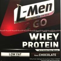 L-men 2go whey Protein Coklat Susu Lmen Siap minum 2 Go