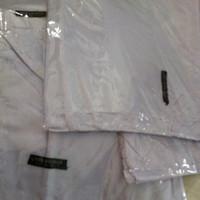 jilbab segi empat katun rawis polos / jilbab sekolah / jilbab putih