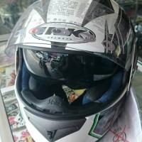 harga Helm INK CL-1 Hexagon Full Face CL1 Visor Black White Green Tokopedia.com
