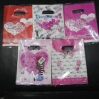 kantong plastik gambar / unik / ukuran 15 x 20 / packing online shop