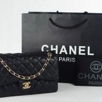 Chanel Boy Classic Medium Hitam