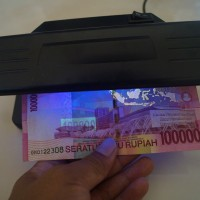 Jual Alat Periksa Uang Palsu Model 318 Besar Money Detector portable murah Murah