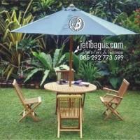 Meja Payung Taman Kursi Lipat (OUTDOOR UMBRELLA TABLE SET)