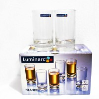 Gelas Minum / Drinking Glass Kaca Bening Luminarc Islande 160 ML 6 pcs