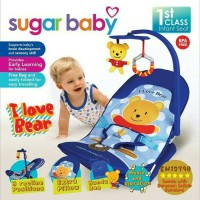Jual infant Seat Love Bear Blue, Sugar Baby Infant Seat I Love Bear Murah