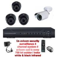 Paket Lengkap IC SONY Cctv Camera US AVICOM 4 Channel