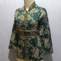harga Baju Blouse Atasan Batik Pekalongan Wanita Cewek Kerja Kantor K6 Tokopedia.com
