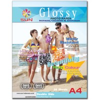 harga Kertas Foto SUN Photo Glossy Next Generation Photo Paper DS 260 Gsm A4 Tokopedia.com