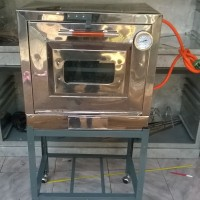 Oven Gas Stenlis Mini 60cmx40cm Model tipe pintu 1 TV.