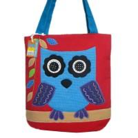 harga Tas Wanita Tote Bag Kanvas Owl Red / Tas Lucu Murah Tokopedia.com