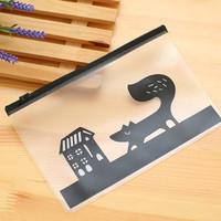 dompet / tempat pensil serbaguna motif hewan - HHM217