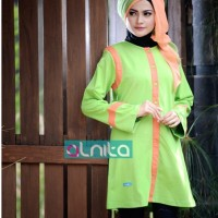 Atasan Busana Muslim Alnita AA-01 hijau pupus