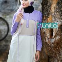 Atasan Busana Muslim Alnita  AA-05 Lavender