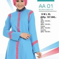 Atasan Busana Muslim Alnita AA-01 Biru Benhur