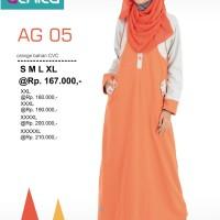 GAMIS BUSANA MUSLIM Alnita AG-05 Orange
