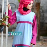 Atasan Busana Muslim Alnita AA-02 Biru Muda