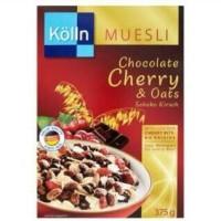 Kolln Muesli Chocolate Cherry & Oats Cereal Sereal Cokelat Import