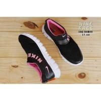 Sepatu Nike Free Hitam Pink Runing Sport Wanita Import Premium Murah