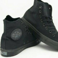 Sepatu Converse Allstars Full Black High (GO)