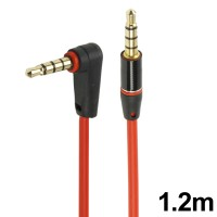 Gold Plated Elbow to Straight Jack Earphone Cable 1.2m Monster Beat