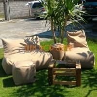 ASC - Paket 10 Linen Vania Beanbags Kursi Santai Sofa