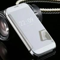 Samsung Galaxy S6 Flat (biasa) - Premium Flip Mirror Cover / Case