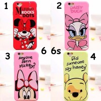 FOR IPHONE 6 6S - SOFT JELLY CASE MINNIE DAISY DUCK WINNIE THE POOH