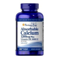 Puritan Absorbable Calcium 1200 mg with Vitamin D 1000 IU (100 Softgel