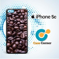 Coffee Bean Holic Brown Food Soft Case, Cover, Hardcase Iphone 5c