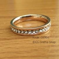 Cincin Single Wanita GS364 - Full Permata Lebih Elegan dan Berkualitas