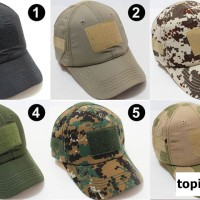 topi velcro army tactical camouflage military outdoor emblem loreng