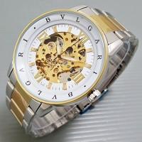 harga Jam Tangan Pria Bvlgari Automatic / Otomatis ROMAWI Combi Gold White Tokopedia.com