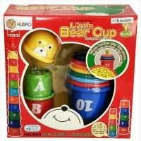 mainan susun gelas bear cup stacking with sound
