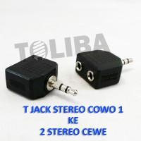 konektor converter jack T mini stereo cowo 1 to 2 cover cewe stereo