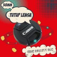 Tutup Lensa Canon 58mm Lensa Cap 18-55 Kit