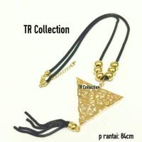 kalung tassel vintage korea triangle diamond